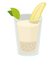 banana milkshake isolated protein drink tropical vector image vector image