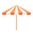 beach umbrella icon flat isolated vector image vector image