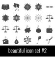 beautiful icon set 2 gray icons on white vector image