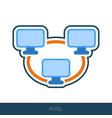 bitcoin mining pool icon vector image vector image