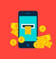 bitcoin mobile concept vector image