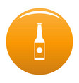 bottle water icon orange vector image vector image