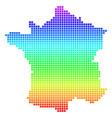 bright dot france map vector image vector image