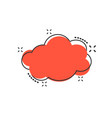 cartoon cloud sky icon in comic style air bubble vector image vector image