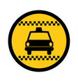 color circular emblem of taxi car vector image vector image