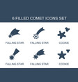 comet icons vector image vector image
