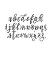 cute hand-drawn faux calligraphy alphabet vector image