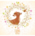 Deer and Bird vector image vector image