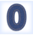 digit of jeans alphabet vector image
