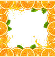 frame of fresh oranges vector image