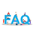 frequently asked questions concept vector image vector image