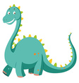 Green dinosaur with long neck vector image
