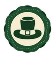 green sticker hat accessory st patrick vector image vector image