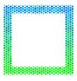 halftone blue-green contour square icon vector image