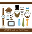 Hipster Accessory Icons Set vector image vector image
