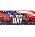 Independence Day 1500x600 Pixel Banner vector image