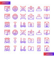 internet security gradient icons set vector image vector image