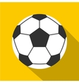 Leather soccer ball icon flat style vector image