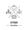 Line Banner Ottawa vector image