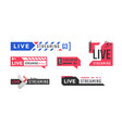 live streaming logo or icon for news vector image
