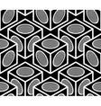 Monochrome abstract interweave geometric seamless vector image