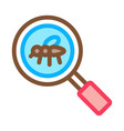mosquito search icon outline vector image