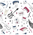 Music symbols Seamless pattern rock music vector image vector image