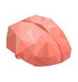 polygonal brain icon isometric style vector image