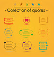 quote blank template eps 10 set empty vector image