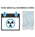 Radioactive Calendar Day Icon With 1000 Medical vector image vector image