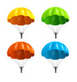realistic detailed 3d color parachute and black vector image vector image