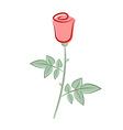 Retro rose vector image vector image