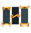 ribbons realistic gold tape flag banner vector image vector image