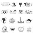 Scrapbook Design Elements - Valentines Love Set vector image