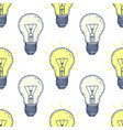 seamless pattern with hand drawn light bulbs vector image vector image