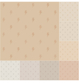 Seamless thunder pattern on recycled paper vector image vector image