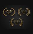 set award sign with laurel wreath vector image