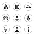set of 9 editable dyne icons includes symbols vector image vector image