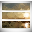 Set of horizontal banners Mountains and sea vector image vector image