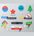 set product labels designed for advertising vector image vector image