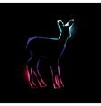 Space deer vector image vector image