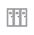 sports wardrobe line icon concept sports wardrobe vector image