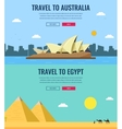 Travel composition with Australia and Egypt vector image vector image