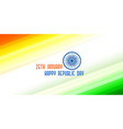 tricolor banner for indian republic day vector image vector image