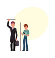 two men male passengers in subway - businessman vector image vector image
