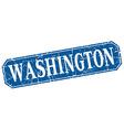 Washington blue square grunge retro style sign vector image vector image
