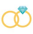 wedding ring cartoon vector image