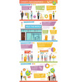 charity infographics flat layout vector image