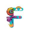 cute magic letter f vector image