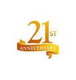 21 year ribbon anniversary vector image vector image